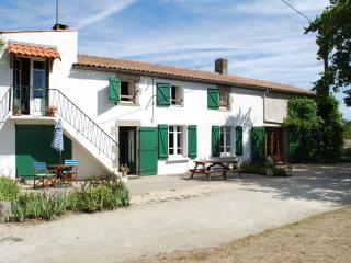 Rural Detached Farmhouse, large garden,heated pool, Aizenay