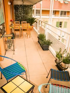 Terrasse 20 m2 au dernier etage