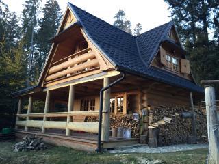Domek drewniany w gorach