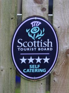 Visit Scotland 4 Star Award for The Rowans.