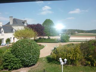 vue du jardin du gite
