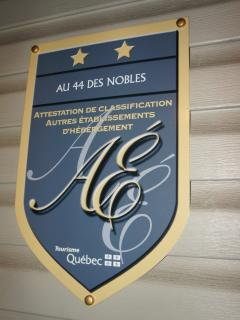 Recognized by Quebec's Ministry of Tourism