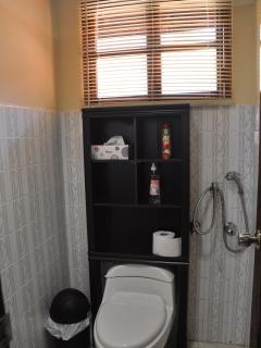 Bathroom for Room 1. It also has its own wash basin and shower.