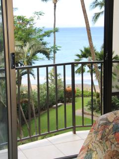 401 View of ocean from bedroom with second walk out lanai