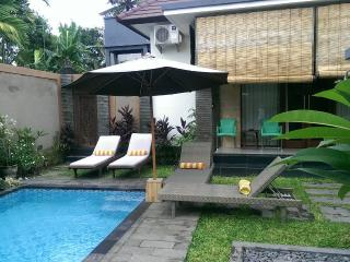 3 bed /bath sleeps 7 pvte pool walk to beach&shops, Sanur
