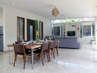 Dining and living of villa dream
