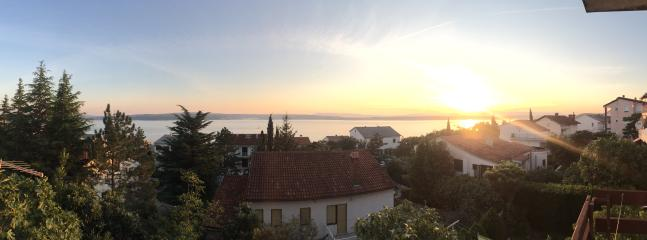 amazing sunsets you can see from the balcony with views over the sea and to the islands