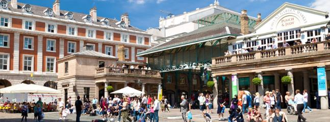 Famous Covent Garden market - within 100meters, full of cafes, markets, and street performers