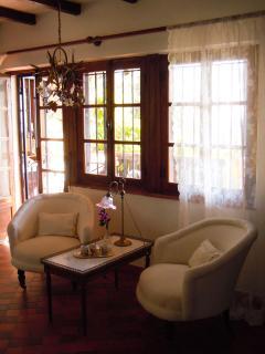 Reading corner in the master bedroom