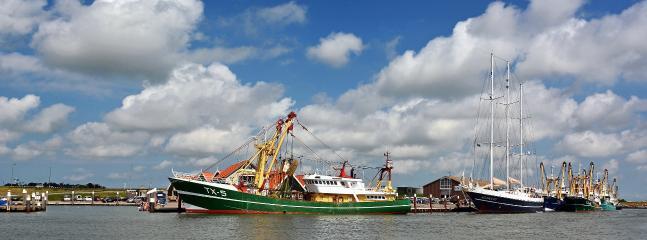 Oudeschild, de vissershaven.  Thuishaven van de Texelse vloot.