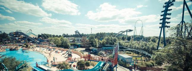 Thorpe Park for all the family. Rollercoasters, thrill rides, beach area plus rides for younger kids