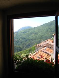 View looking towards the mountain of Prato Fiorito.