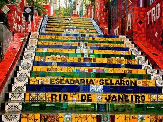 Escadaria Selaron - muito próximo do apartamento (duas ruas ao lado)