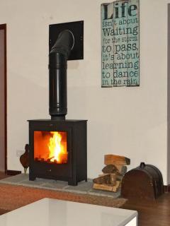 Wood burner in Dinning /Family Room