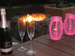Relax with a glass of wine and good conversation around the fire pit.