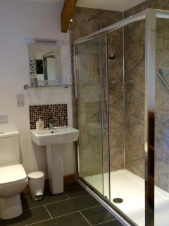 The Linhay shower room.