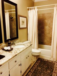 Newly remodeled bathrooms with granite, marble & Italian porcelain & brushed nickel. Only the best!