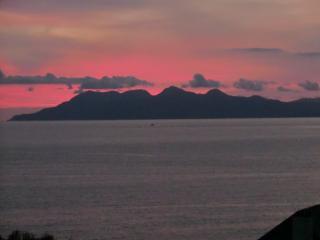 Sunset over Rhum