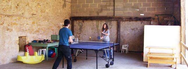 Table Tennis in the covered play area in the courtyard