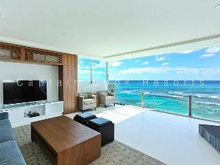 MESMERIZING Oceanfront Views; Impressive 2 Bedroom, 2 Bath with Washlets!, Honolulu