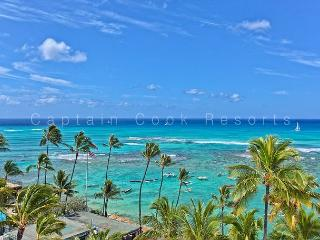900 Sq Foot Condo - Oceanfront Building - Swimming/Surfing Beach, Honolulu