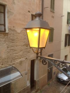 Street lighting outside kitchen