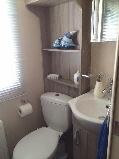 Bathroom with excellent power shower