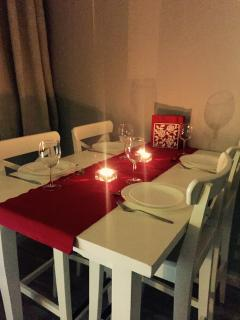 Fantastic area,Enjoy the view of the square while you dine,open the windows and a bottle of wine...