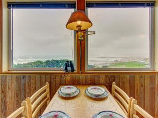 Custom, waterfront home w/ ocean views. Walk to town & the beach - dogs welcome!