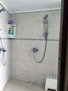 Sauna's shower room