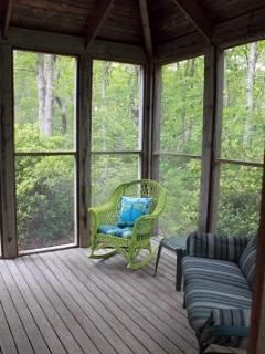 Screened In Porch With New Windows