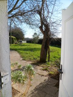 Door entrance. Winter time