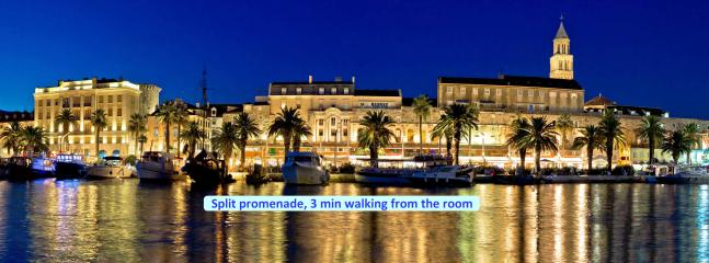 Split promenade, 3 min walking from the room