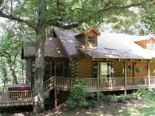 Magical Log Cabin Home on Creek with Waterfall - Just Listed!