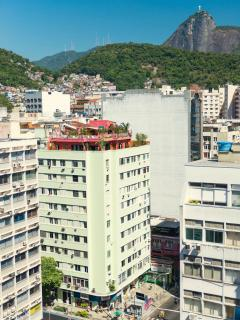 The Coral Penthouse with Rio's tropical mountains and Christ the Redeemer