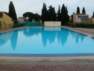 one of two swimming pools on the complex