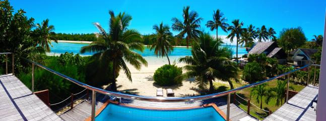 Take in the beautiful lagoon from upstairs