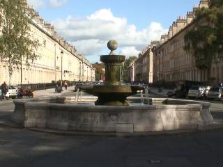 Laura Fountain at the end of Henrietta Street.