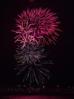 New Year Eve firework from Kiama Harbour. LBS Photography