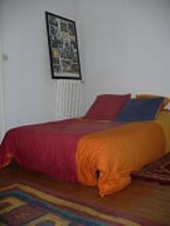 chambre, lit double