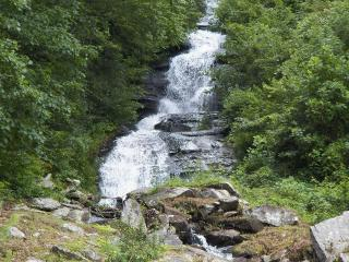 Brightwater Falls Retreat ~ A 7 Acre Private Retreat with 600 foot waterfall!, Hendersonville