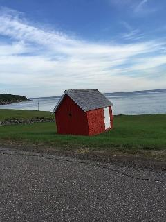 Red barn, Bay St. Lawrence, 30 minutes away.