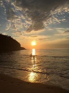 Black Brook Beach, 20 minutes away, at sunrise.