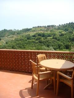 The upstairs balcony / terrace for eating , reading or taking the sun with stunning views.