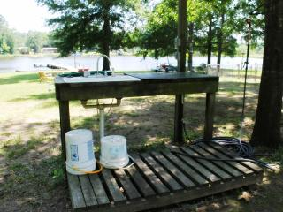 The convenient fish cleaning table for your catch of the day...