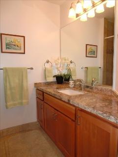 Bathroom near living area