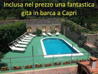 house with pool opposite Capri!