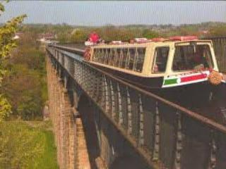 Telfor Aquaduct, the canal in the air. You can walk across as well as boat.