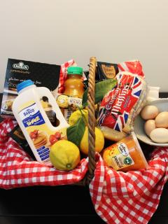 Breakfast baskets consist seasonal options fresh from our property. Gluten free available v
