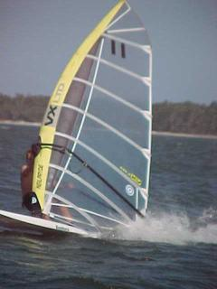 Sailboarding on Coila Lake